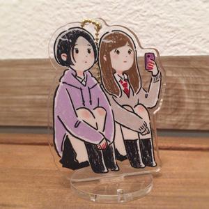 女子高生2人組のアクリルスタンド