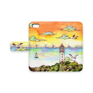 【iphoneケース】夕凪の灯台