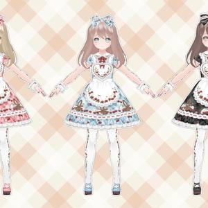 ♪ラブリーチェリーエプロンワンピ♪【VRoid用テクスチャ】