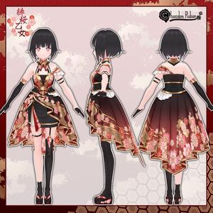 ■緋桜乙女コーデセット■【VRoid用テクスチャセット】