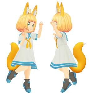 【VRMアバター】きつねのこ ヒナギク / fox girl【オリジナル3Dモデル】