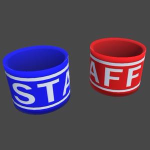 【3Dモデル】スタッフの腕章(+サンプルアバター)
