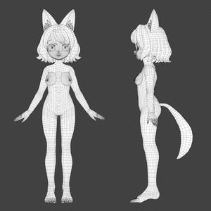 雛月ミィナ【VRCHATアバター想定3Dモデル】