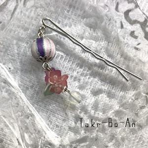 紫陽花かんざし風ヘアピン