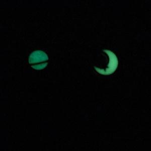 月と土星のストラップ