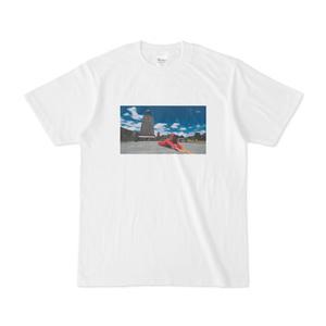 Tシャツ「赤道と名付けられた国に行って赤道になる」地主恵亮