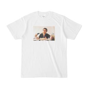 Tシャツ「電動ドリルでスパゲッティを食べると便利」石川大樹