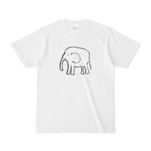 Tシャツ「ゾウの絵描き芸を再現する」こーだい