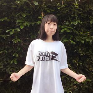 Lサイズ デイリーポータルZ ロゴTシャツ(白)