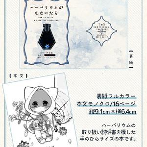 ハーバリウム風アクキー&豆本セット