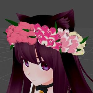 チューリップの花冠2種類