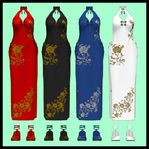【Viviちゃん想定】チャイナドレス 4colors