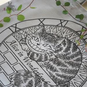 チェシャ猫トートバッグ(グレー)