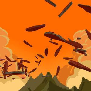 ローポリ鮭の切り身