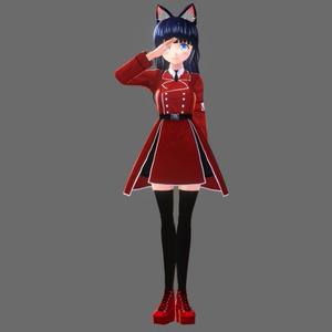 『VRoid&セシル変身』基本色無料 軍服各色(ニーハイソックス&ブーツ付き)『ワンピース用テクスチャ』