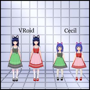犬子屋【ディアンドル】VRoid&セシル変身用