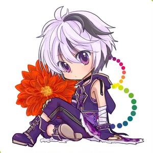 v4 flowerアクリルキーホルダー