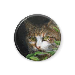 リアルな猫の絵の缶バッジ