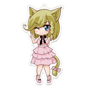 猫耳少女アクリルキーホルダー