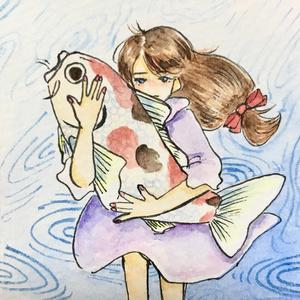 ミニ原画「鯉」
