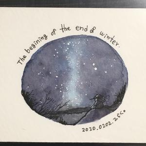 額装原画「冬の涙」