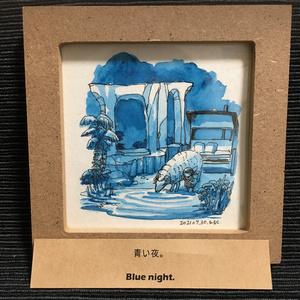額装原画「青い夜」