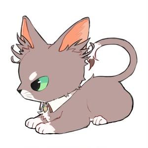 ネコ様アクリルキーホルダー