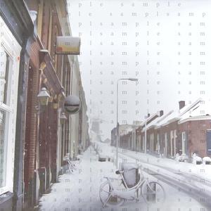 イラスト素材 雪の郊外
