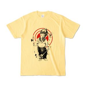 ガネーシャ 02 カラーTシャツ ライトイエロー
