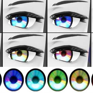 【無料】VRoid用テクスチャ - CD Eyes -