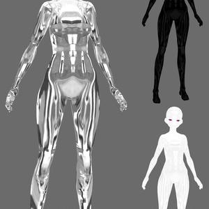 【VRoid用】メタリック肌のテクスチャ