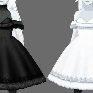 【VRoid用】クリスマスドレス