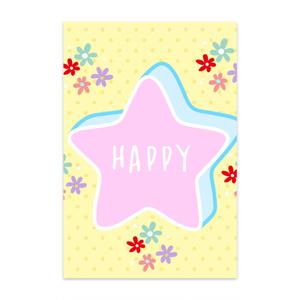 HAPPYポストカード