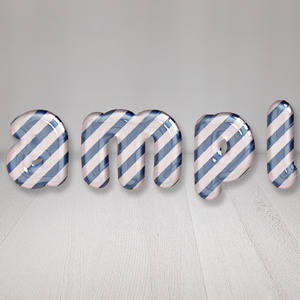 【Candy Cane(Blue Stripe)】