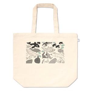 海洋生物トートバッグ
