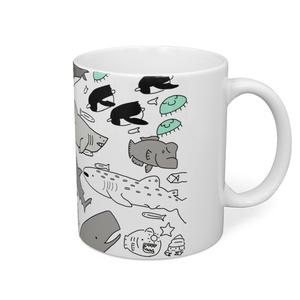 海洋生物マグカップ
