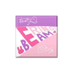 四角形型缶バッジ(ERINGIBEAM.)
