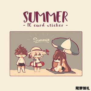 ICカードステッカー - summer