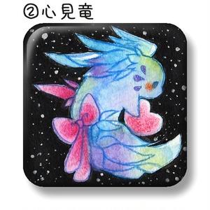 正方形缶バッジ【夜】