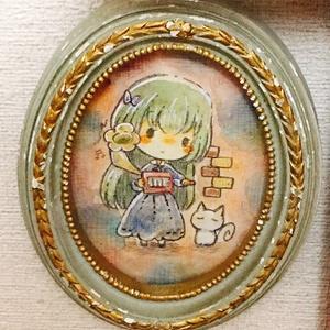 額装イラスト原画【アンティーク風】