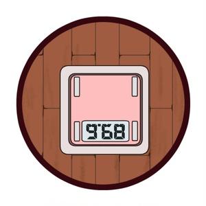 【アクリルフィギュア】ふてぇ丸+体重計台座