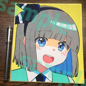 魂魄妖夢直筆イラスト色紙