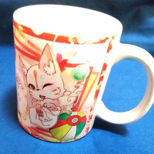 【送料無料】妖狐と化け狸のマグカップ