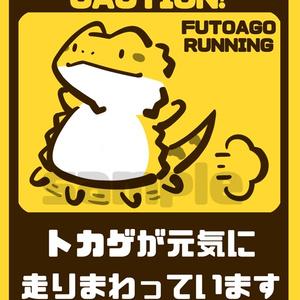【カーステッカー】トカゲが元気に走りまわっています