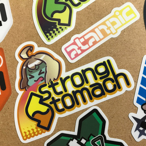 ステッカー:StrongStomach【トロピカル】