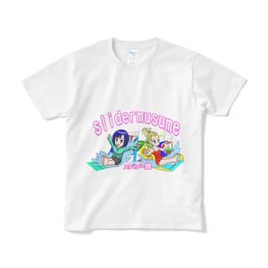夏を涼しく!水しぶきいっぱいスライダー娘Tシャツ