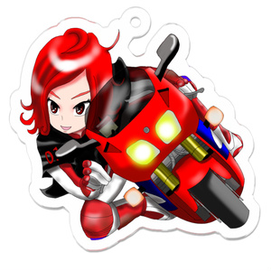 女子力全開!バイク走り屋キーホルダー