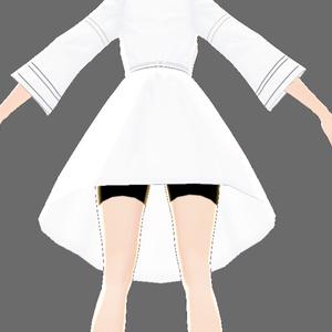Vroid用V字ネック・和風ワンピース作成用簡易テンプレート・服貫通対策済み肌テクスチャ(男性キャラ用あり)セット