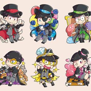 各衣装松シールセット④(6種類)