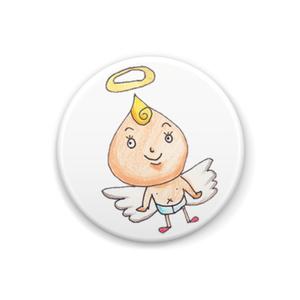 天使さんカンバッジ